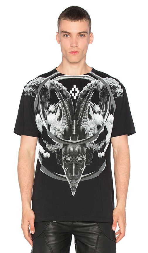 Marcelo Burlon Aurora Tee in Black & White