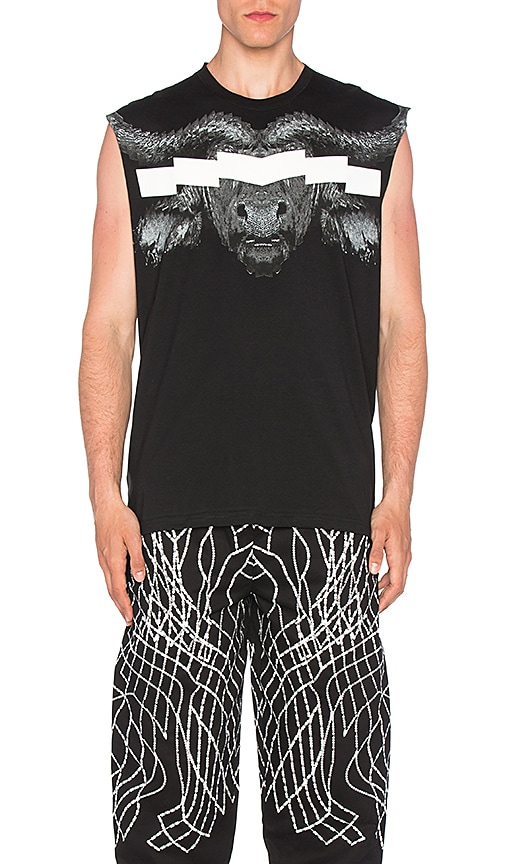 Marcelo Burlon Pokigron Tank in Black & White