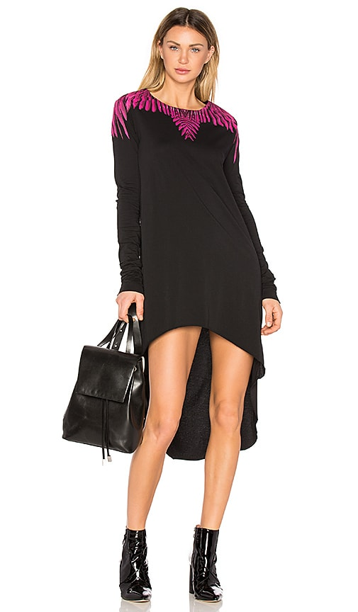 Marcelo Burlon Naibi T Shirt Dress in Black