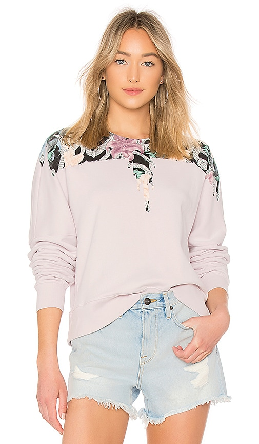 Marcelo Burlon FLOWER WINGS CREWNECK PULLOVER
