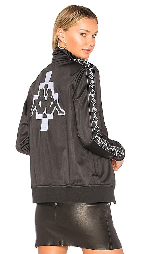 Marcelo Burlon Kappa Zip-Up Jacket in Black