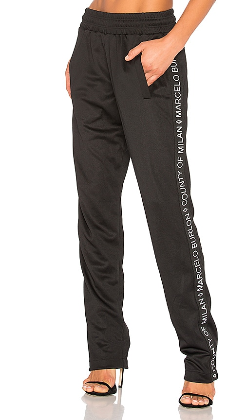 Marcelo Burlon Riba Pants in Black