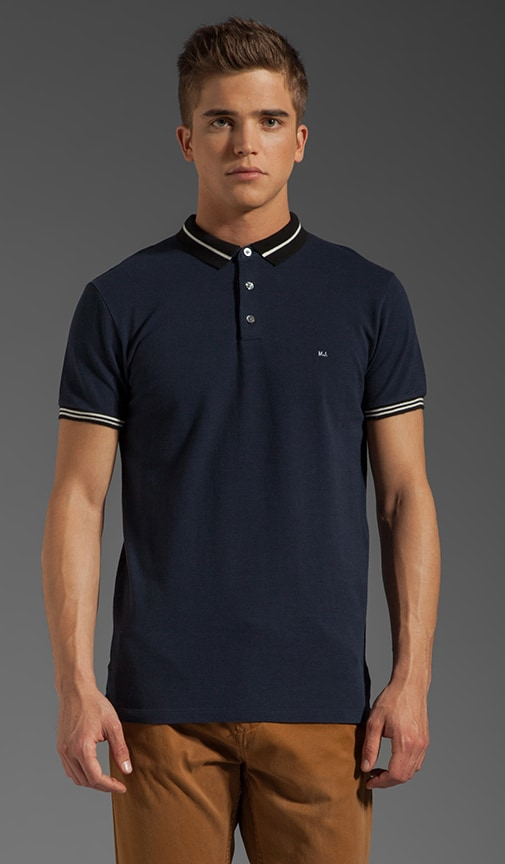 Striped Collar Polo