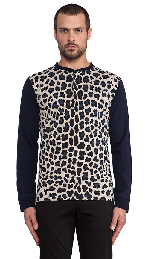 London Leopard Jersey Henley