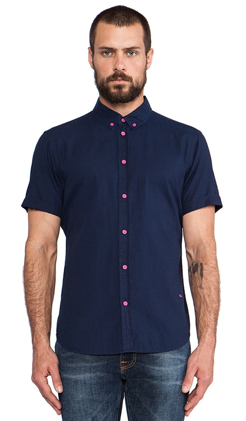 Indigo Oxford Short Sleeve Buttondown