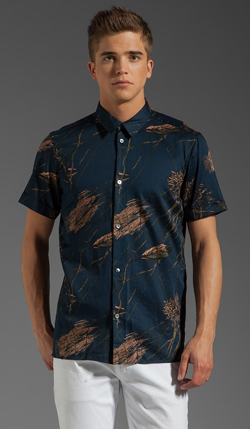 Planted Print S/S Button Up