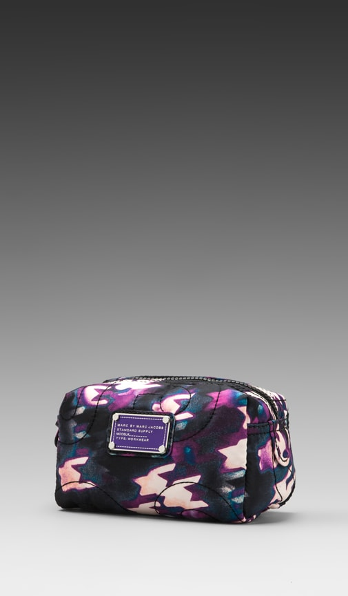 Pretty Nylon Printed Small Cosmetic Bag