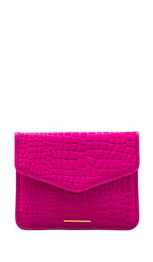 In a Bind Neoprene Croc Embossed Tablet Envelope Clutch