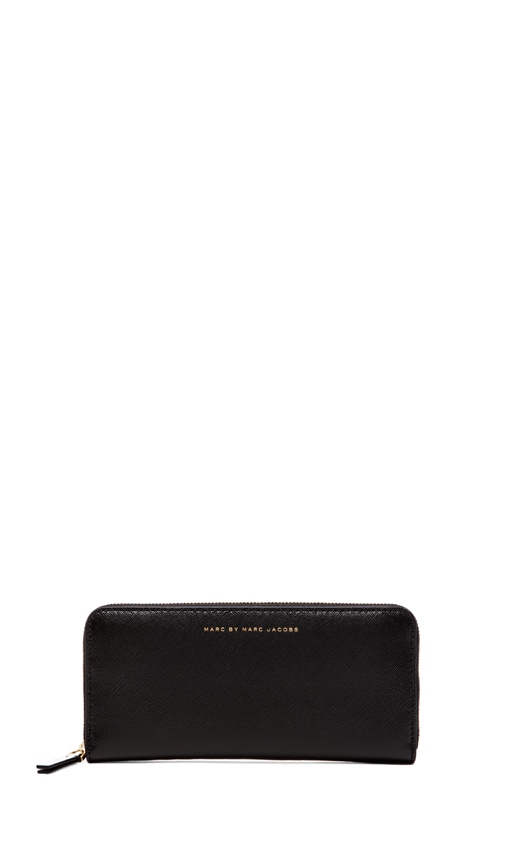 Sophisticato Colorblocked Slim Zip Around Wallet
