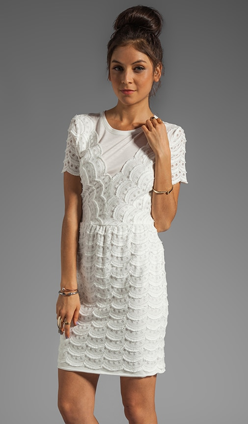 Scallop Tier Lace Dress