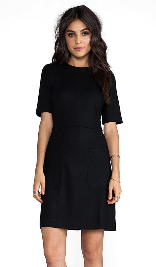 Mercedes Wool Elbow Sleeve Dress