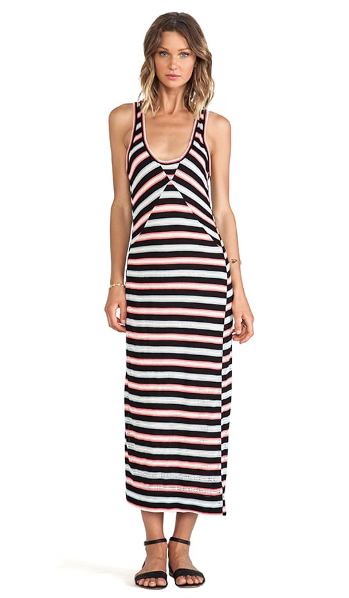 Miriam Mesh Stripe Maxi Dress