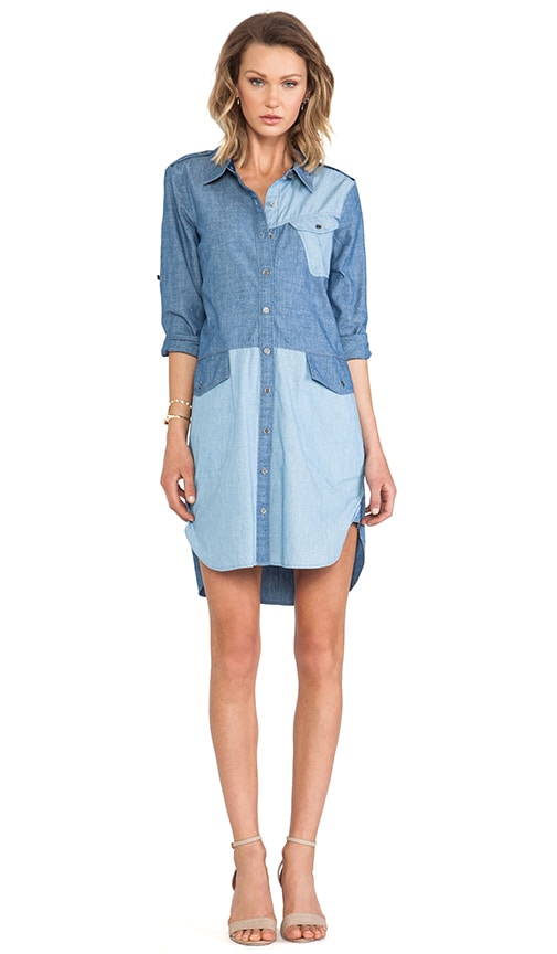 Catalina Chambray Solid Shirt Dress