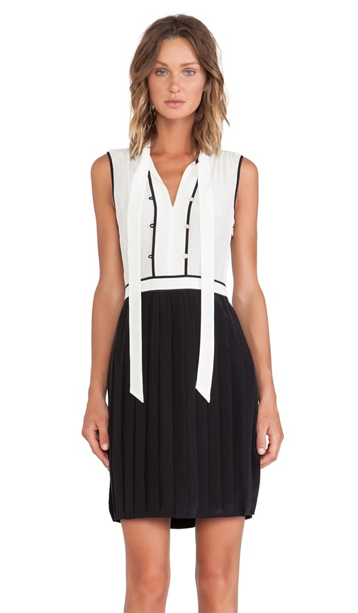 Frances Color Block Silk Dress
