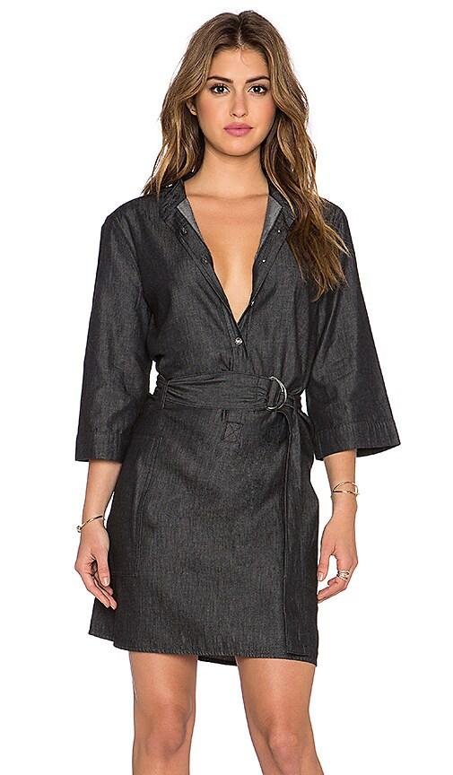 Marc by Marc Jacobs Cotton Silk Denim Dress in Black Back