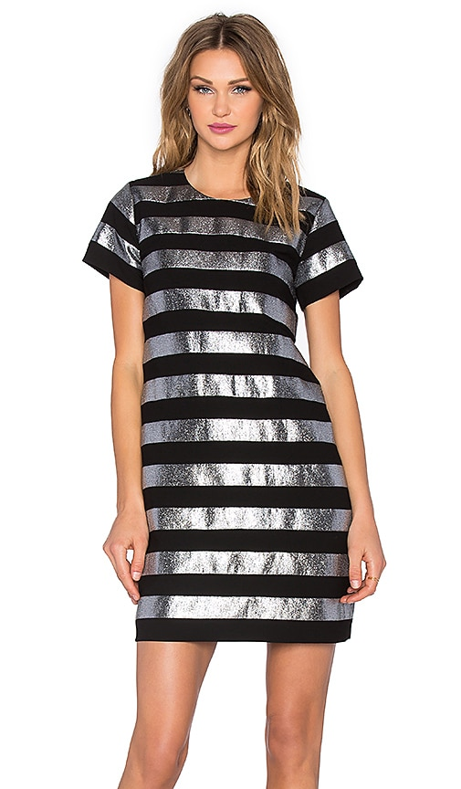 Marc by Marc Jacobs Lame Shift Dress in Metallic Silver