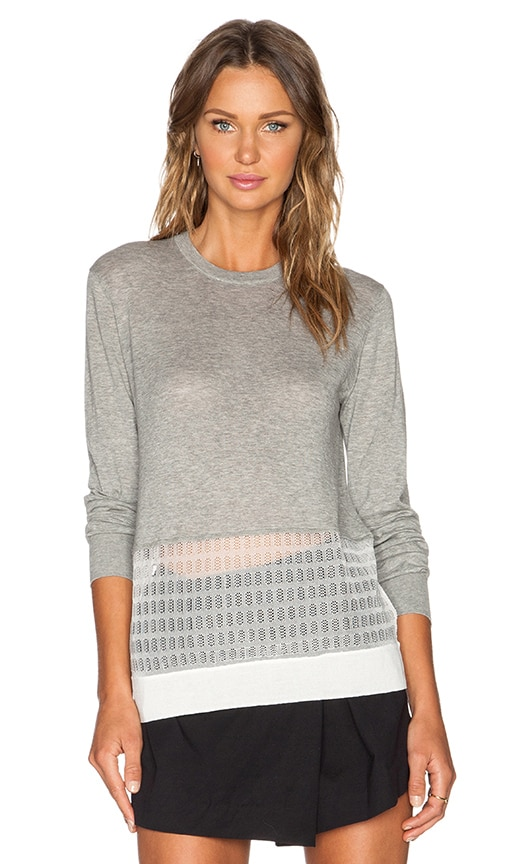 Marc by Marc Jacobs Bobby Sweater in Frost Grey Melange