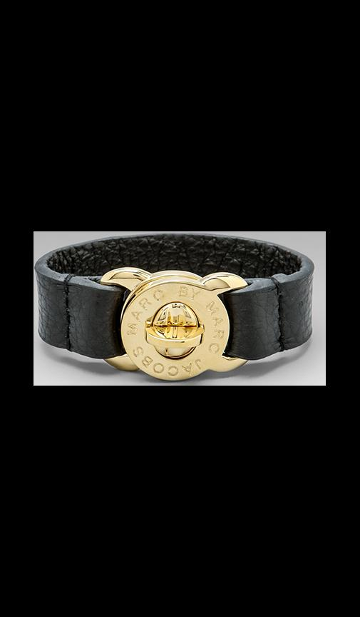Large Turnlock Leather Bracelet