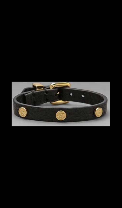 Turnlock Charm Leather Bracelet