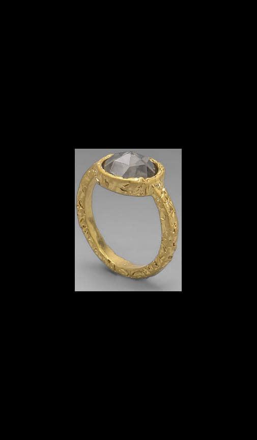 Bow Tiny Crystal Ring