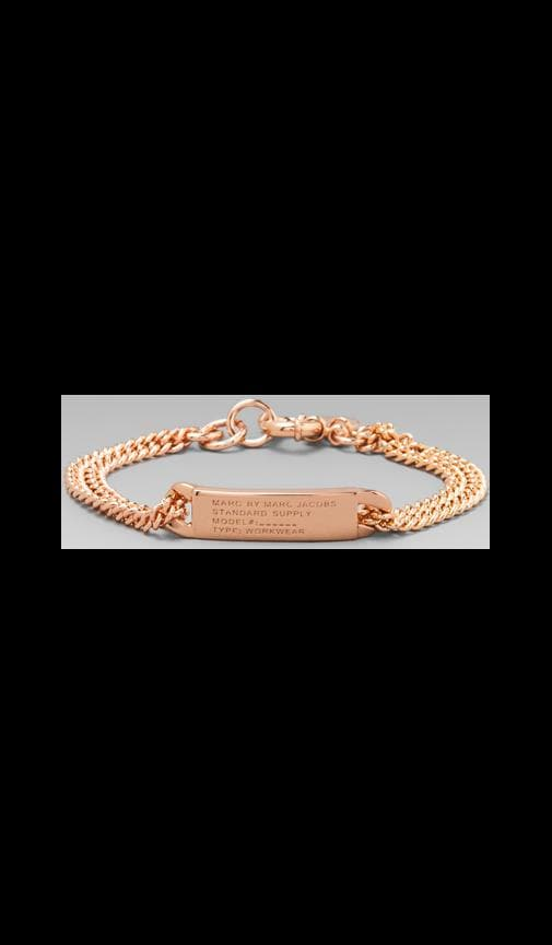 Standard Supply Plaque Chain Logo Bracelet