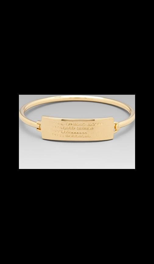 Standard Supply Plaque Skinny Hinge Bracelet