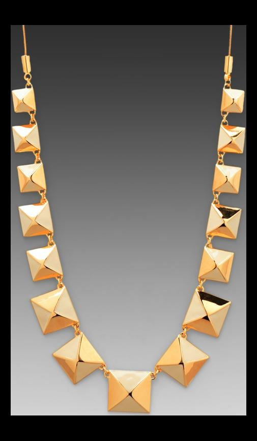 Standard Supply Plaque Giant Stud Necklace