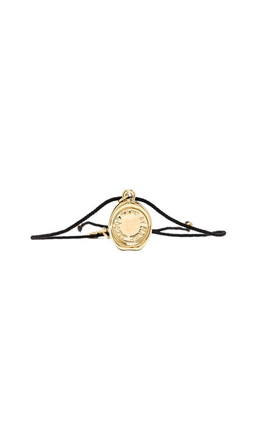 Marc by Marc Jacobs Grab & Go Stamped Friendship Bracelet in Black