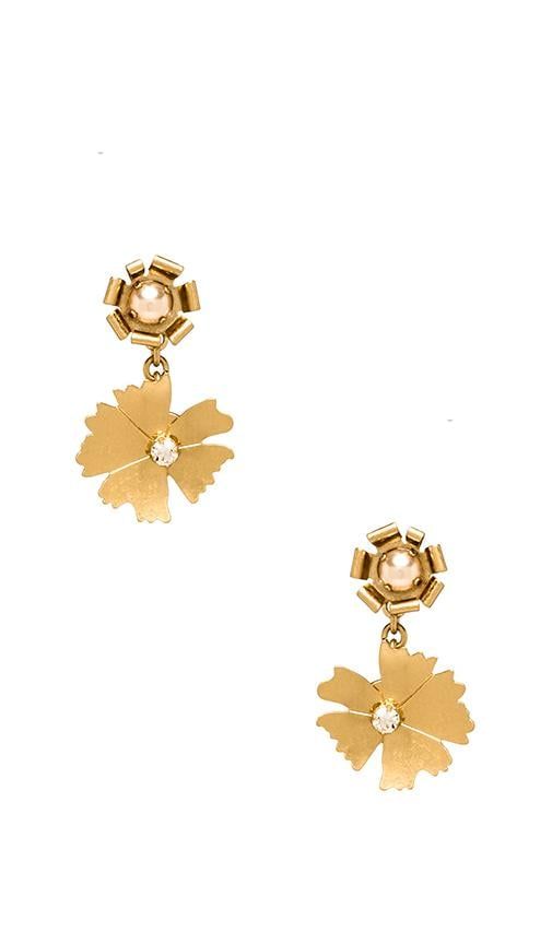 Pinwheel Flower Mini Bouquet Drop Earrings
