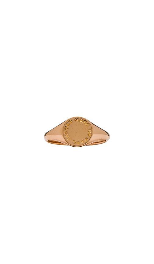 Grab & Go Logo Disc Signet Ring