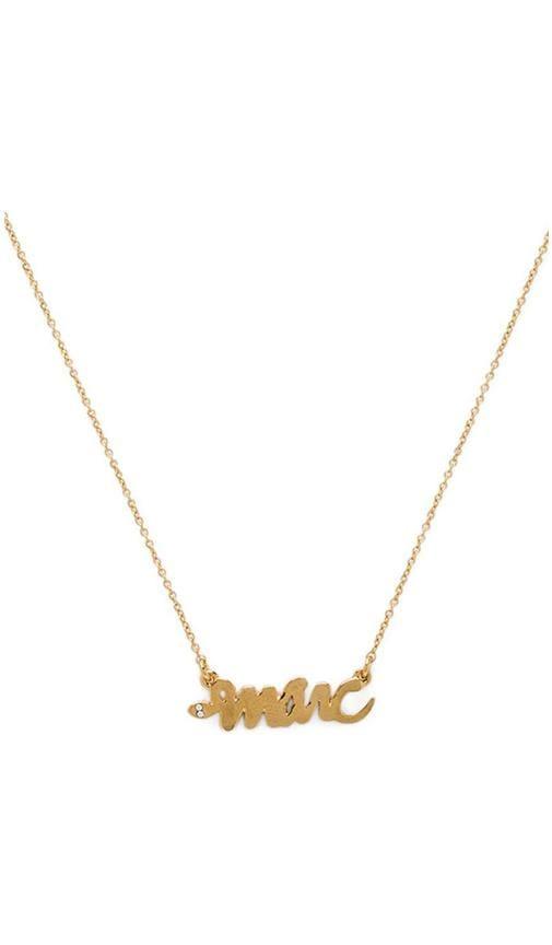 Script Snake Necklace
