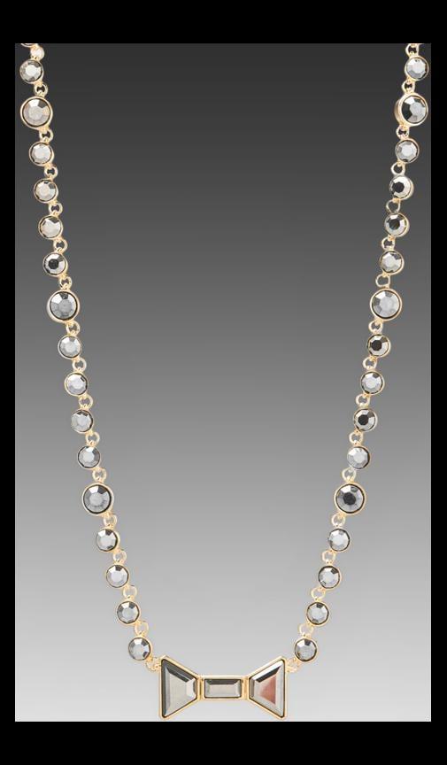 Polka Dot Bow Short Necklace