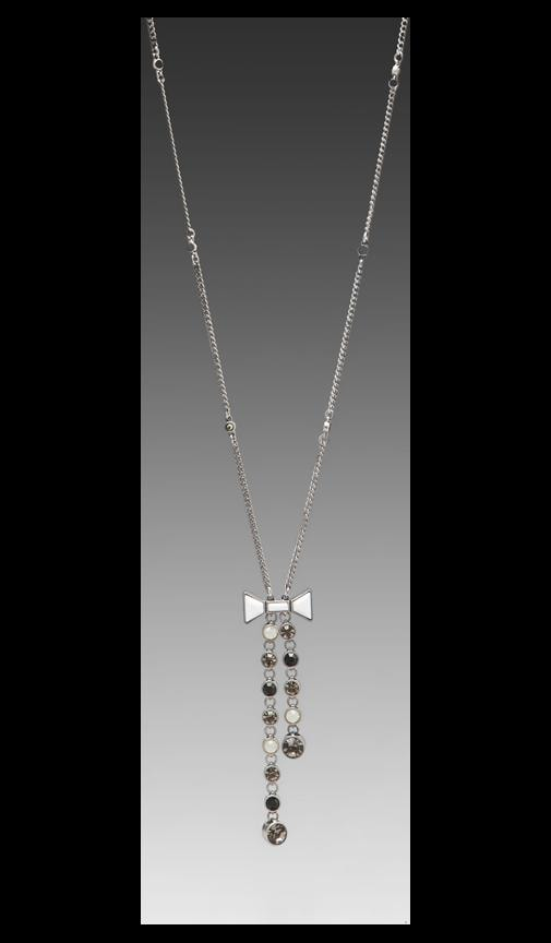 Polka Dot Bow Lariat Necklace