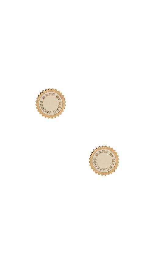 New Classic Marc Saw Tooth Enamel Disc Studs