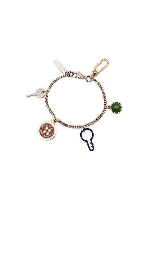 Lost & Found Keys & Button Charm Bracelet