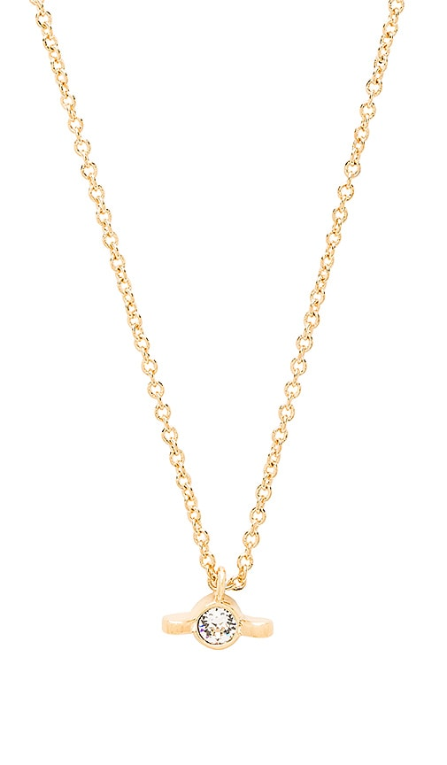 Marc by Marc Jacobs Screw It Wingnut Pendant Necklace in Oro