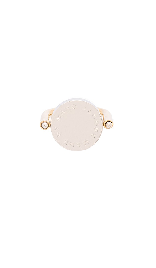 Marc by Marc Jacobs Logo Disc Ring in Oro Multi