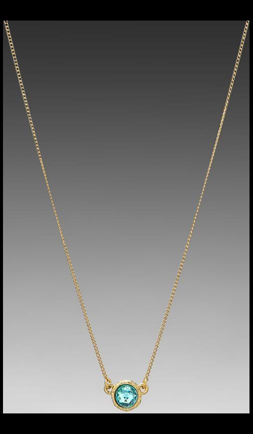 Tiny Crystal Charm Necklace