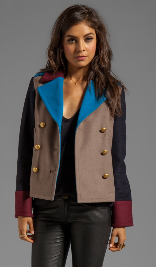Nicolette Colorblocked Wool Jacket