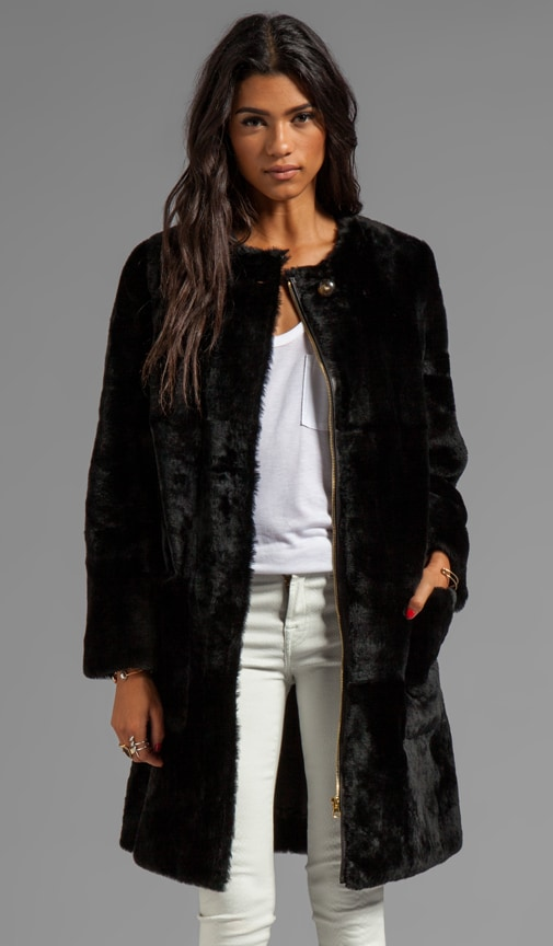 Hudson Shearling Long Coat