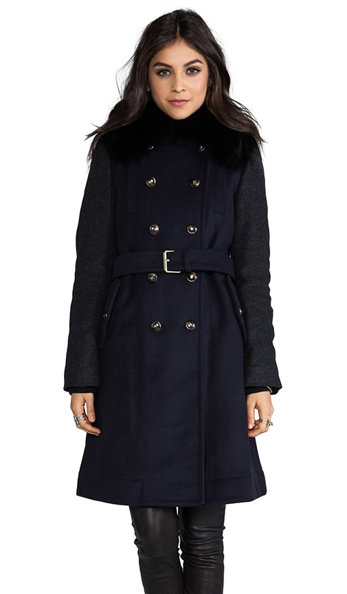Nicolette Colorblocked Wool Coat