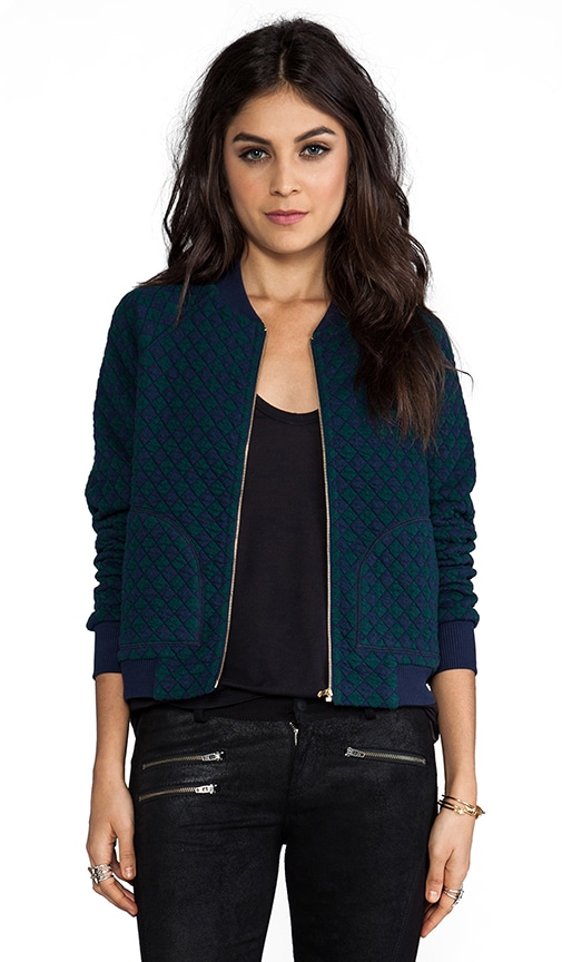 Quilty Argyle Bomber Jacket