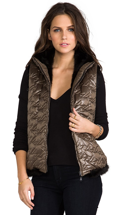 Logan Reversible Faux Fur Puffer Vest