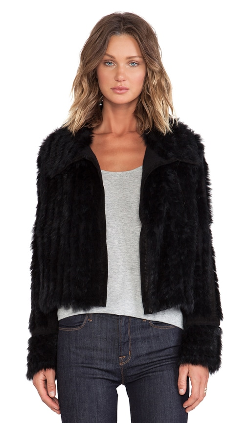 Abbey Rabbit Fur Jacket