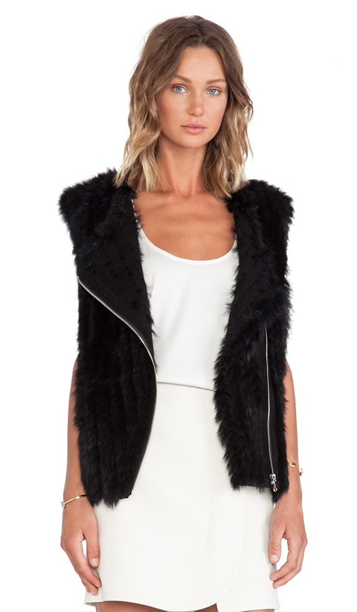 Abbey Rabbit Fur Vest