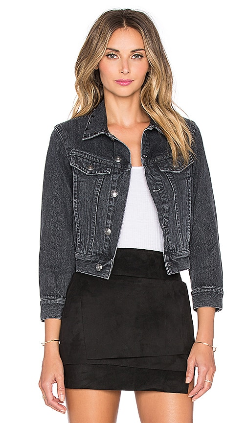 Marc by Marc Jacobs Shrunken Denim Jacket in Authentic Black