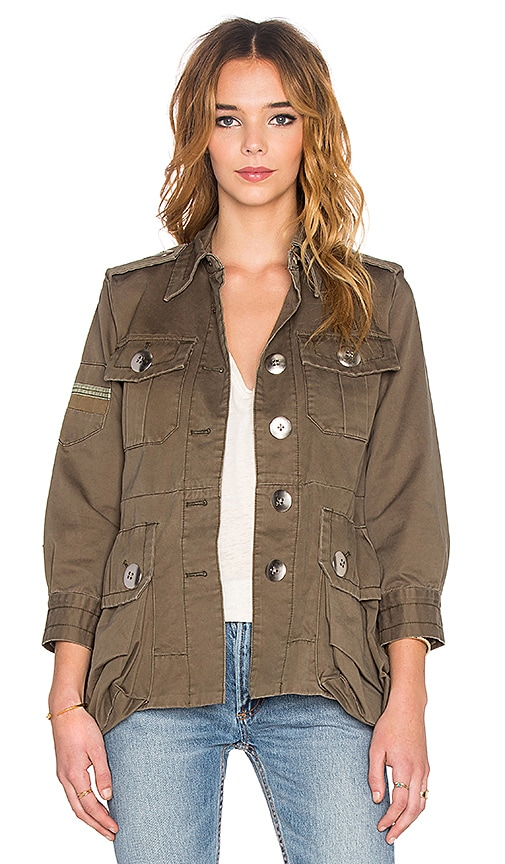 Marc by Marc Jacobs Cotton Twill Military Jacket in Sully Green