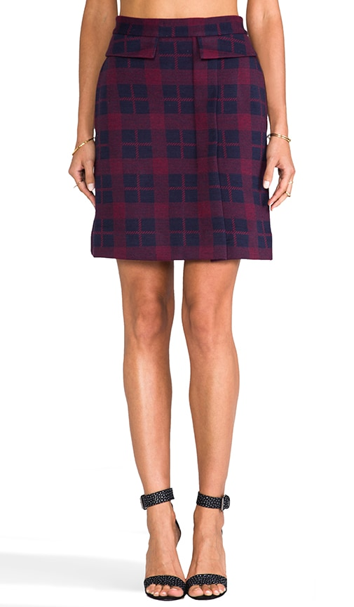 Maya Plaid Jacquard Skirt