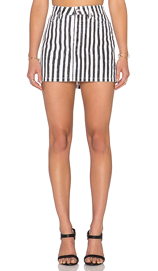 Marc by Marc Jacobs Icon Mini Skirt in Black & White