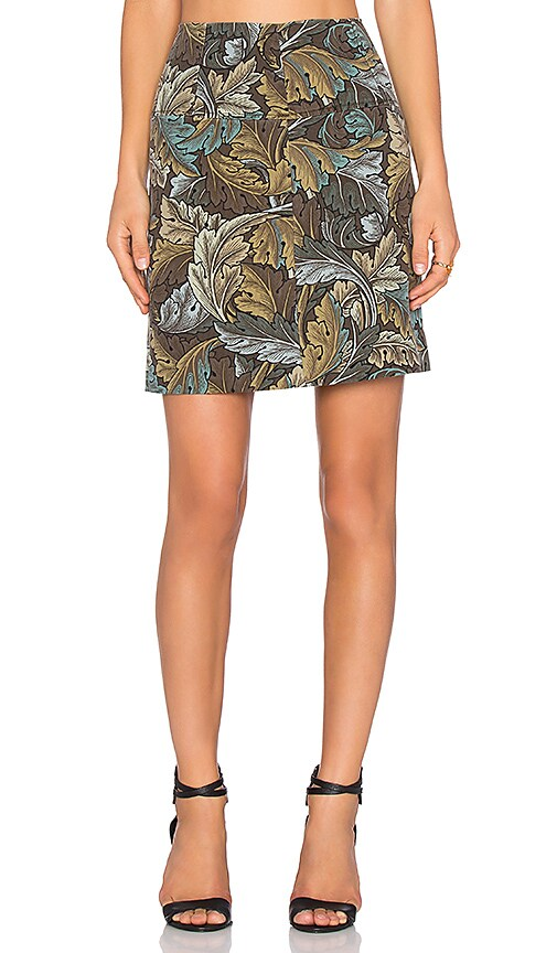 Marc by Marc Jacobs Ancathus Army Mini Skirt in Elm Brown Multi